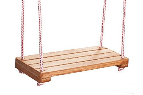 Wooden World Holz Kinder Kinder Schaukel Spielplatz Outdoor Stuhl Seil Garten Patio Türsteher Board...