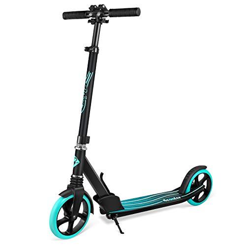 BELEEV Roller Erwachsene, Tretroller Kick Scooter mit 2 Rädern, Cityroller mit Federung,...