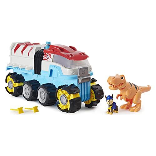 PAW Patrol Dino Rescue Dino Patroller motorisiertes Teamfahrzeug mit exklusiver Chase und T-Rex Figuren