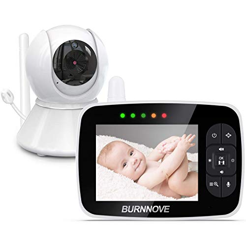 Babyphone mit kamera 3.5 Zoll Babyphone Baby Monitor mit ferngesteuerter Pan-Tilt Kamera 2x Digitalzoom...