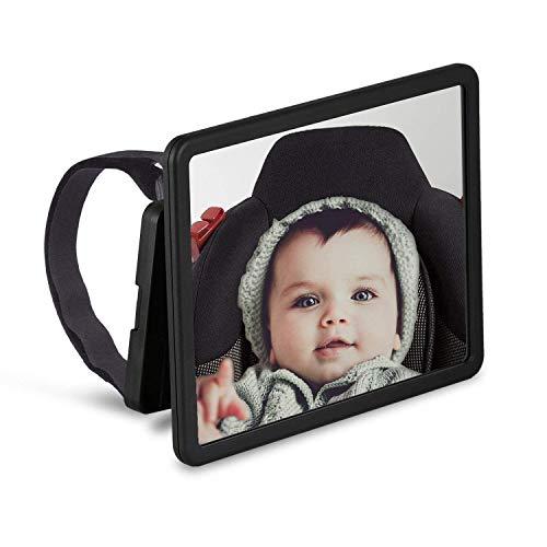 Wicked Chili schwenkbarer Babyspiegel für Auto Kopfstützen, KFZ Baby Rücksitzspiegel, bruchsicherer...