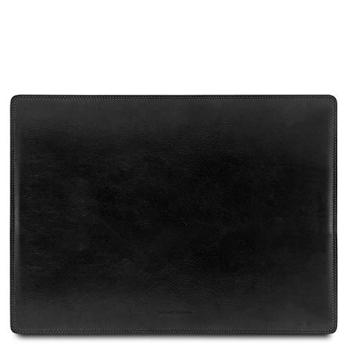 Tuscany Leather Schreibtischunterlage aus Leder Schwarz