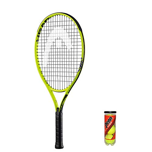 HEAD Extreme Junior Tennisschläger + 3 Balls and Protective Cover (Sizes 19'-26') (23')