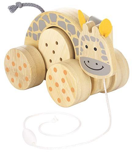 Kindsgut Ziehtier aus Holz für Babys und Klein-Kinder, Nachzieh-Tier ab 10 Monaten in schlichtem Design...