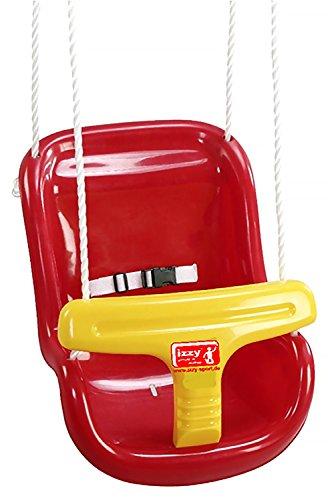 Izzy Sport 73205 - Babyhochschaukel, ca. 37 x 46 x 33 cm, TÜV und GS geprüft, rot