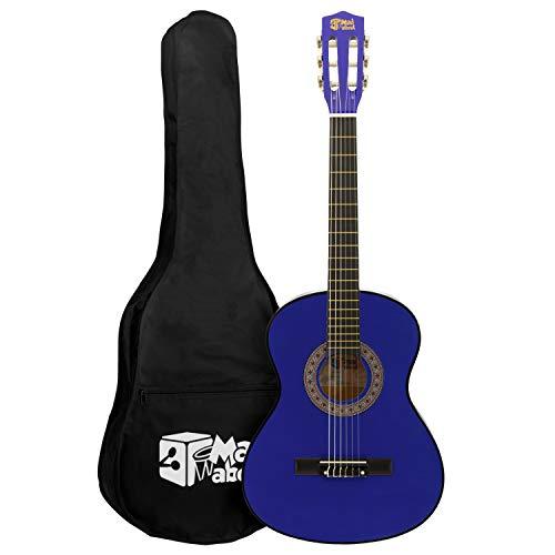 Mad About MA-CG04 Konzertgitarre (1/4 Größe, blaue Klassikgitarre, bunte Spanische Gitarre,...