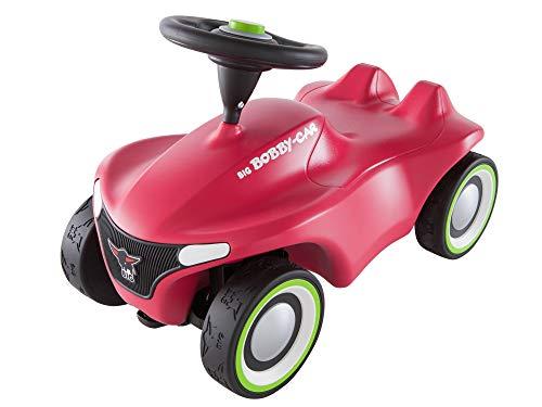 BIG-Bobby-Car-Neo Pink - Rutschfahrzeug für drinnen und draußen, Kinderfahrzeug mit Flüsterreifen im...