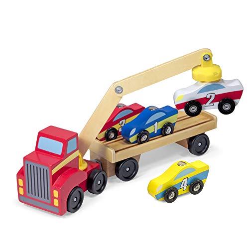 Melissa&Doug magnetischer Autoheber | Fahrzeuge und Züge aus Holz | LKWs und Fahrzeuge | 3+ |...