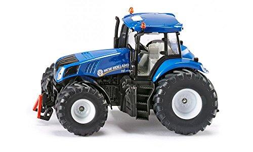 siku 3273, New Holland T8.390 Traktor, 1:32, Metall/Kunststoff, Blau, Achsschenkellenkung und Kupplung
