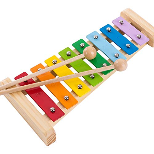 Yifuty Octave, Kinder Hand Percussion Schlaginstrument, Educational Percussion Musik-Spielzeug-Xylophon,...