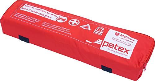 Petex 43999712 Kombitasche p l u s mit Klettband best. aus EURO-Warndreieck, Verbandstofffüllung und...