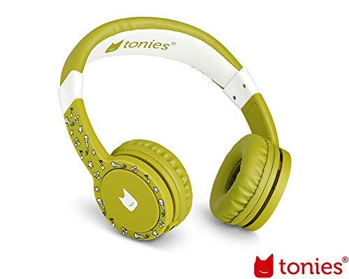Tonie-Lauscher grün: Kinder Kopfhörer passend zur Toniebox - Lautstärke reguliert, Abnehmbares Kabel,...