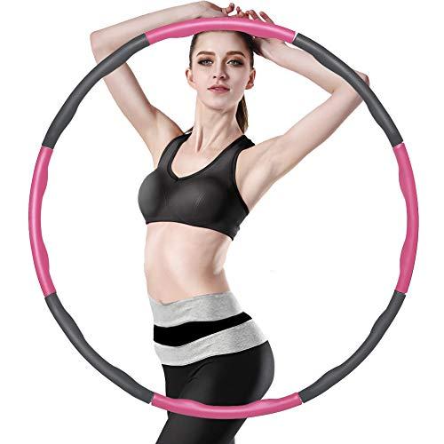 XSIUYU Hula Hoop Reifen, Smart Hula Hoop Reifen Erwachsene Kinder Junge 6-8 Segmente Abnehmbarer Hoola...