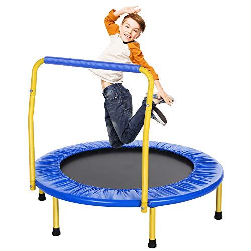 ANCHEER Trampolin Kinder Mini Trampolin für Drinnen,Klappbar Fitness Kindertrampolin Indoor,Kind...