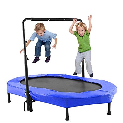 ANCHEER Kindertrampolin, Garten Trampolin für zwei Kinder Indoor / Outdoor zusammenklappbar mit...
