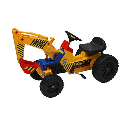 Oypla Pedal-Fahrt der Kinder auf gelbem Super scherzt Mini Bagger-Bauernhof-Traktor