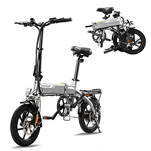 HITWAY Elektrofahrrad E Bike Pedelec Cityräder Klapprad Fahrrad aus Luftfahrtaluminium, 7,5Ah Batterie,...