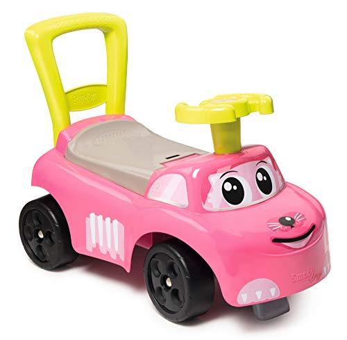 Smoby 720524 Mein erstes Auto Rutscherfahrzeug, Kinderfahrzeug mit Staufach und Kippschutz, für drinnen...