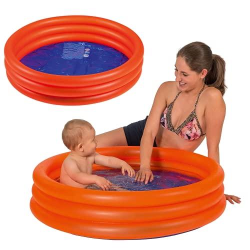 Smart Planet® Baby Pool - Mini Kinder Planschbecken 100 cm Kleiner Pool zum Baden für Babys und...