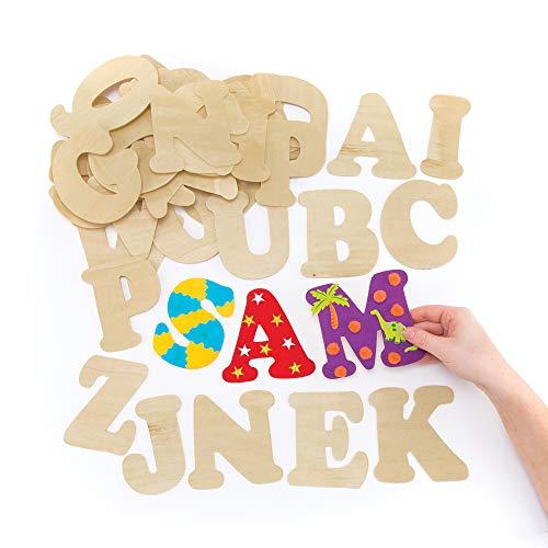 Baker Ross Große Buchstaben aus Holz zum Basteln und Bemalen für Kinder - ideal für Schriftzüge und...