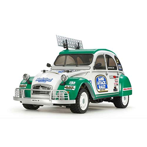 TAMIYA 58670 58670-1:10 RC Citroen 2CV Rally (M-05Ra), ferngesteuertes Auto/Fahrzeug, Modellbau, Bausatz,...