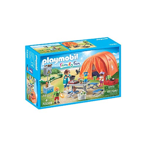 PLAYMOBIL Family Fun 70089 Familien-Camping, Ab 4 Jahren