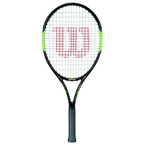 Wilson Blade Team 21, Kinder Tennisschläger, von 100 bis 115 cm, Schwarz-Grün