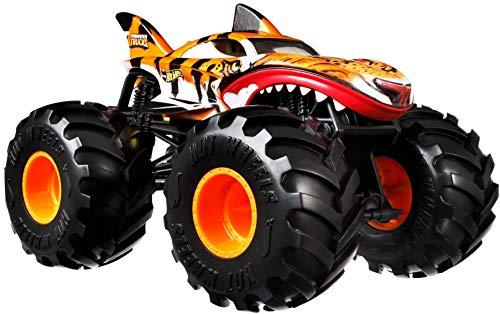Hot Wheels GWL14 - Monster Trucks 1:24 Tiger Shark Die-Cast Spielzeugauto, für Kinder ab 3Jahren