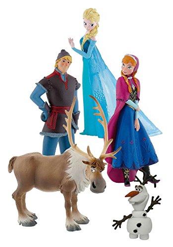 Bullyland 12220 - Walt Disney Frozen, Figurenset, 5 Figuren
