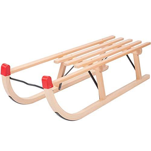 Pc-HXG Hörnerschlitten,Klappschlitten Aus Holz Belastbarkeit 100 Kg,Geeignet für Kinder und Erwachsene...