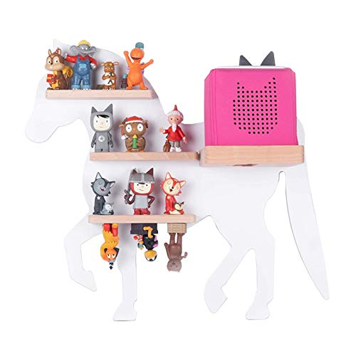 BOARTI Kinder Regal Pferd small in Weiß - geeignet für die Toniebox und ca. 20 Tonies - zum Spielen und...