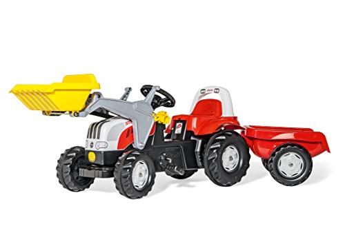 Rolly Toys 023936 - rollyKid Steyr CVT 6165 Trettraktor mit Anhänger (für Kinder von 2,5 bis 5 Jahren,...