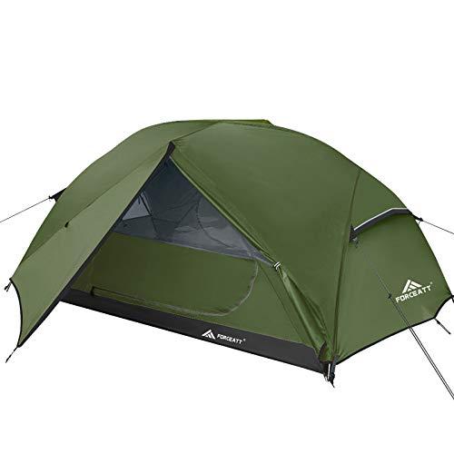 Forceatt Zelt 2-3 Personen Camping Zelt, 2 Doors Wasserdicht & Winddicht & Insektensicher 3-4 Saison...
