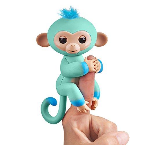 Fingerlings zweifarbiges Äffchen grün mit blau Eddie 3724 interaktives Spielzeug, reagiert auf...