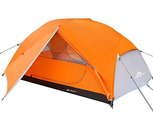 Forceatt Zelt 2 Personen Camping Zelt, 2 Doors Wasserdicht & Winddicht 3-4 Saison Ultraleichte Rucksack...