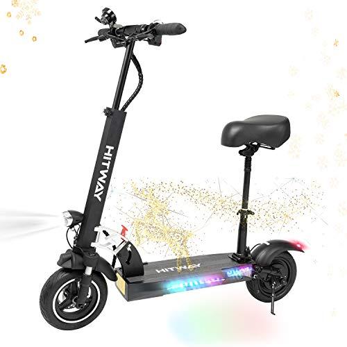 HITWAY Elektroroller mit Sitz, Erwachsene Electric Scooter 43 km/h, 800W Motor und LCD-Bildschirm,...