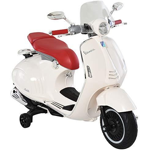 HOMCOM Elektrofahrzeug, Kinderfahrzeug, Kindermotorrad, Elektro-Motorrad mit MP3-Musik Beleuchtung, 3-6...