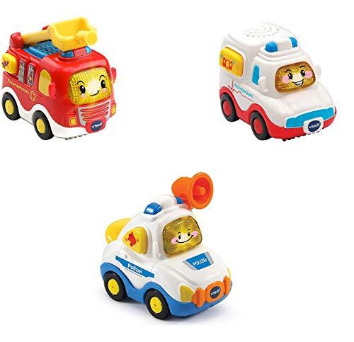 Vtech 80-242104 Tut Tut Baby Flitzer - 3er Set Einsatzfahrzeuge (Feuerwehrauto, Rettungswagen, Polizei),...