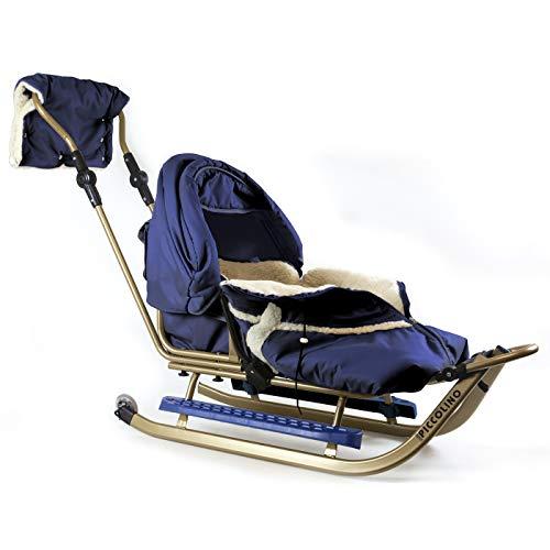 Kinderschlitten Babyschlitten Piccolino Gold Granatblau