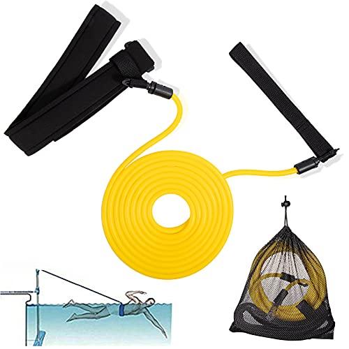 Pool Schwimmgurt Einstellbare Schwimmwiderstand, 4M Zugseil Schwimmen Training/Lernt Schwimmgürtel...