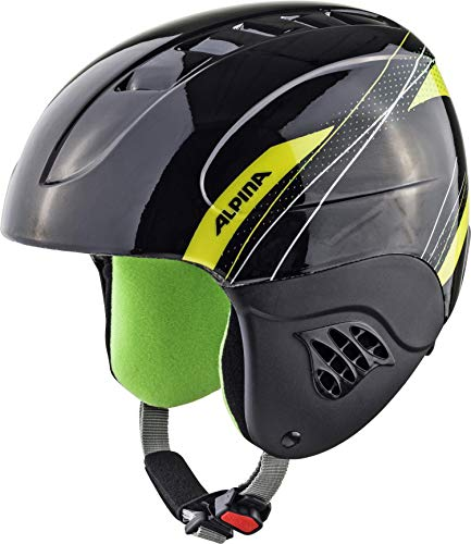 ALPINA CARAT Skihelm, Kinder, black-green, 54-58