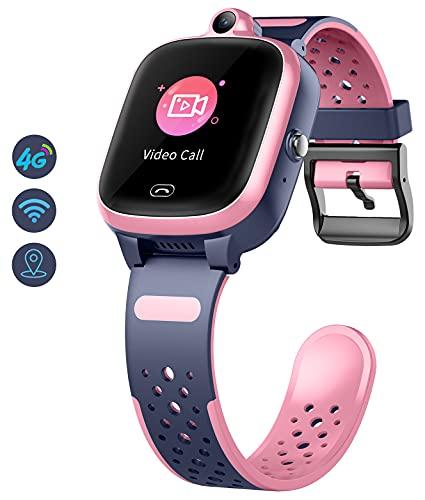 Kinder Smartwatch mit GPS 4g WiFi LBS Tracker Echtzeitposition HD Touchscreen SOS Videoanruf Sprachchat...