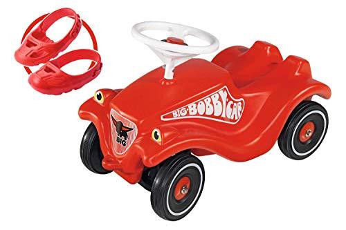 BIG 800056106 Bobbycar Set mit Flüsterräder und Schuhschoner