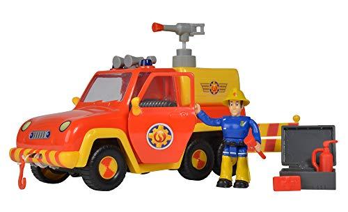 Simba – Feuerwehrmann Sam Feuerwehrauto Venus, mit Elvis Figur, mit Originalsound und...