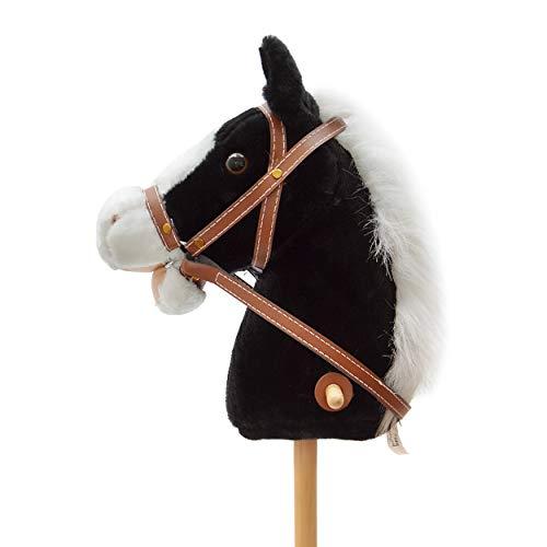 Pink Papaya Steckenpferd, Beauty, süßes Spielzeug Pferd aus Plüsch mit Sound Funktion: Gewieher und...