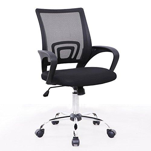 SVITA Cydney Kinder Schreibtischstuhl Bürostuhl Netzbezug Drehstuhl Stuhl Schreibtisch (Schwarz)