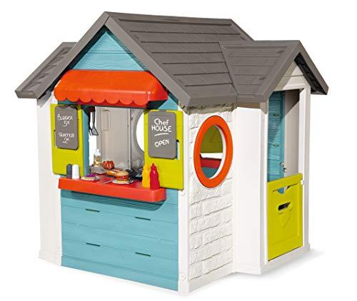 Smoby – Chef Haus - Multifunktionshaus für Kinder für drinnen und draußen, Restaurant, Spielhaus und...