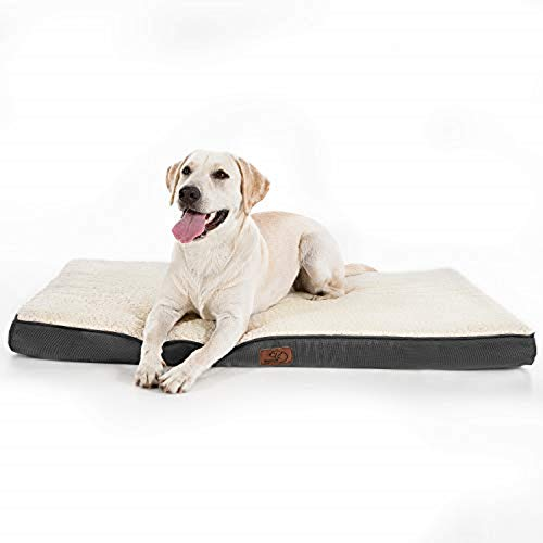 Bedsure Hundekissen flauschig Grosse Hunde - orthopädisches Hundebett eierförmige Hundematte kuschelige...