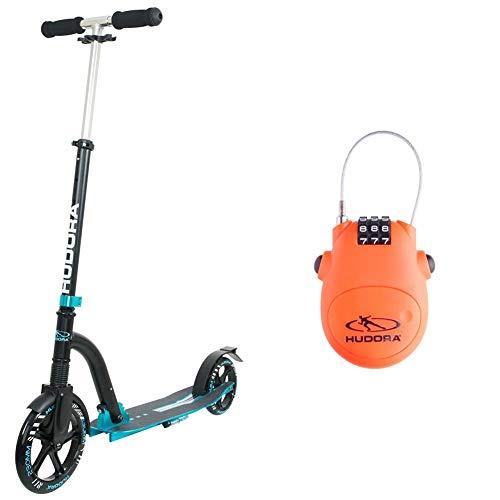 HUDORA 2986095101 Alu 9' BigWheel Bold Cushion-Big Wheel City Scooter-Tret-Roller mit Stoßdämpfung,...