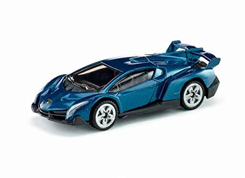siku 1485, Lamborghini Veneno, Metall/Kunststoff, Spielzeugauto für Kinder, Dunkelblau, Bereifung aus...